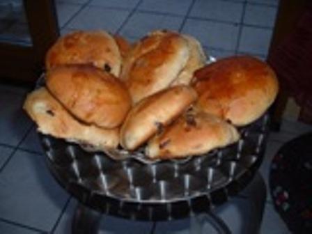 pains au lait aux raisins